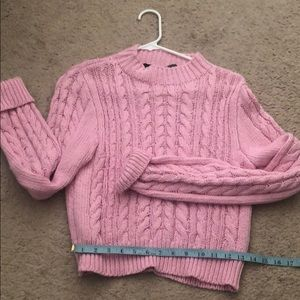 Sweaters - Chunky knit pink sweater